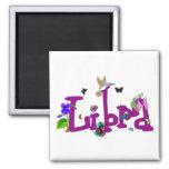 Libra Flowers Square Magnet