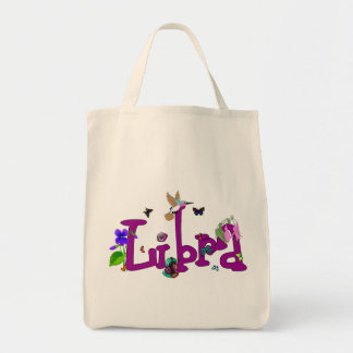 Libra Flowers Grocery Tote Bag