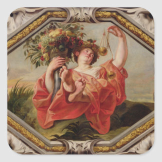 Libra, from the Signs of the Zodiac Square Sticker