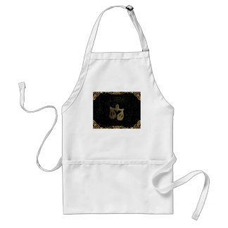 Libra golden sign standard apron