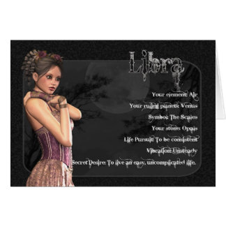 Libra Gothic Zodiac Birthday Card
