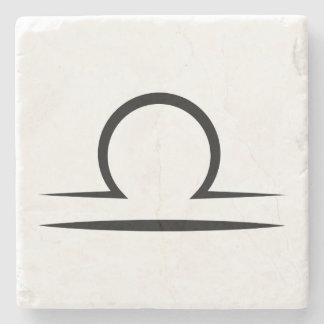 libra greek zodiac astrology horoscope symbol stone coaster