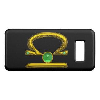LIBRA , Green Emerald and Gold ,Black Case-Mate Samsung Galaxy S8 Case