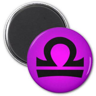 Libra Horoscope Sign Magenta Purple Fridge Magnet
