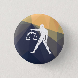 Libra horoscope sign round button