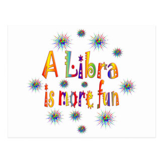 Libra is Fun Postcard