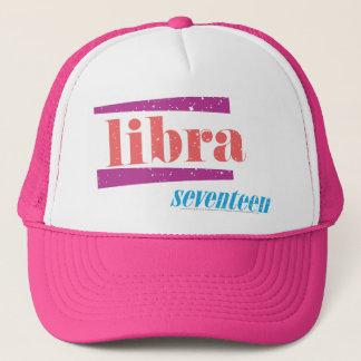 Libra LtPink Trucker Hat