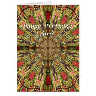 Libra Mandala Birthday Card