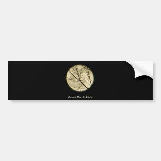Libra Moon Through Tree Branches Bumper Sticker