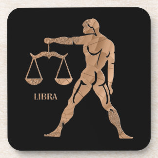 Libra Muscle Man Scales Zodiac Drink Coasters