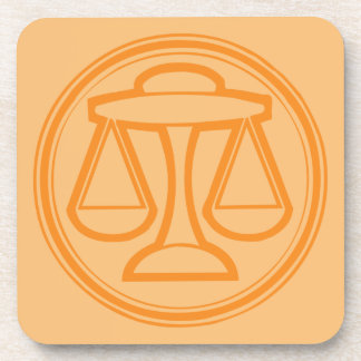 Libra Orange Coaster