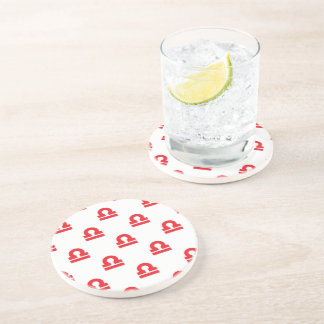 Libra Pattern Red Drink Coasters