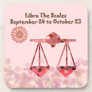 Libra Plastic Coaster (set of 6)