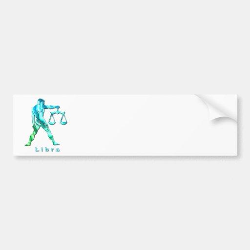 Libra Profile Bumper Stickers