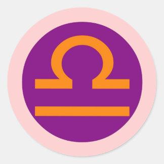 Libra round sticker