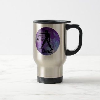 Libra Scales on Space Background Travel Mug