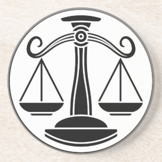 Libra Scales Zodiac Horoscope Sign Coaster
