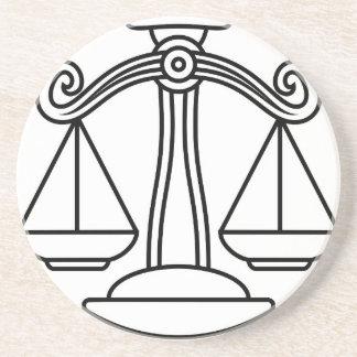 Libra Scales Zodiac Sign Coaster