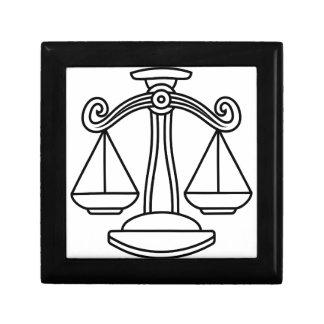 Libra Scales Zodiac Sign Gift Box