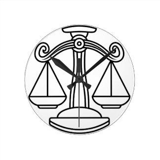 Libra Scales Zodiac Sign Wallclock