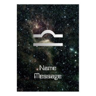 Libra Scales Zodiac Star Sign Universe Bookmark Business Card Template
