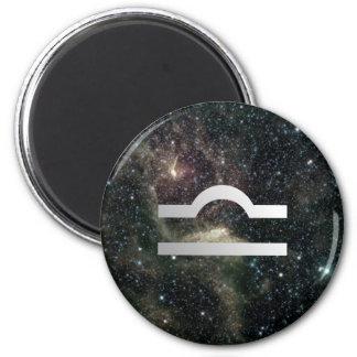 Libra Scales Zodiac Star Sign Universe Magnet