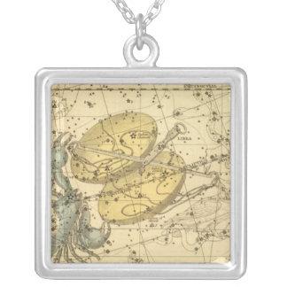 Libra, Scorpio Square Pendant Necklace