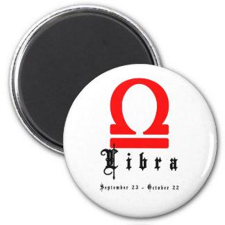 Libra, September 23 - October 22 6 Cm Round Magnet
