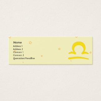 Libra - Skinny Mini Business Card