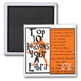 Libra Square Magnet
