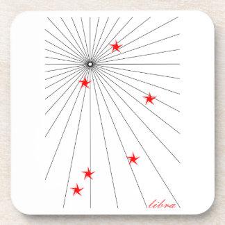 Libra Starburst Zodiac Coaster