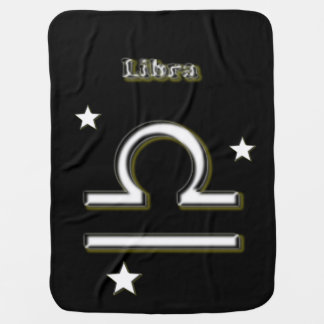 Libra symbol baby blanket