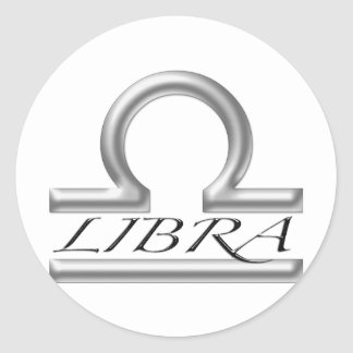 Libra Symbol Classic Round Sticker