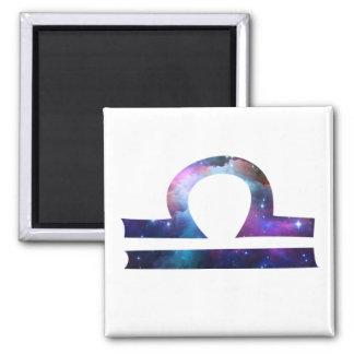 Libra Symbol Square Magnet