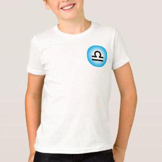 LIBRA T SHIRT for Kids - Zodiac Symbol White Tee