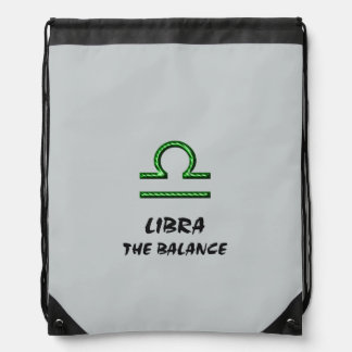 Libra the balance drawstring bag