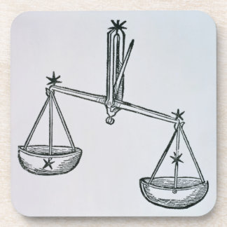 Libra (the Scales) an illustration from the 'Poeti Beverage Coasters
