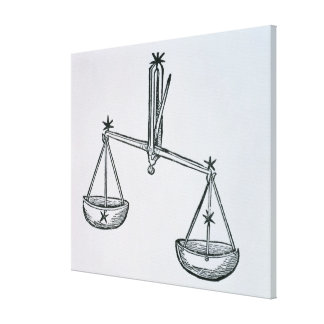 Libra (the Scales) an illustration from the 'Poeti Canvas Print