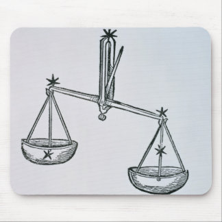 Libra (the Scales) an illustration from the 'Poeti Mouse Mat
