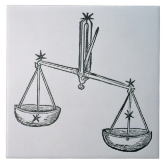 Libra (the Scales) an illustration from the 'Poeti Tile