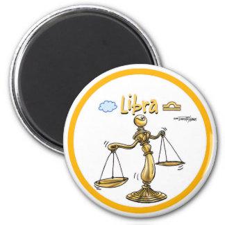 Libra - The Scales - Balance 6 Cm Round Magnet