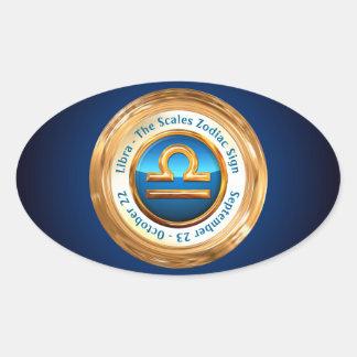 Libra - The Scales Zodiac Sign Oval Sticker
