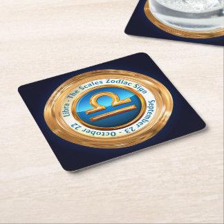 Libra - The Scales Zodiac Sign Square Paper Coaster