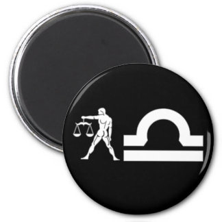 Libra with Symbol Magnet