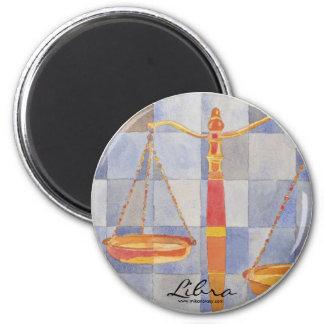 Libra Zodiac 6 Cm Round Magnet