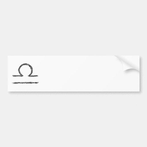 Libra. Zodiac Astrology Sign. Black. Bumper Sticker