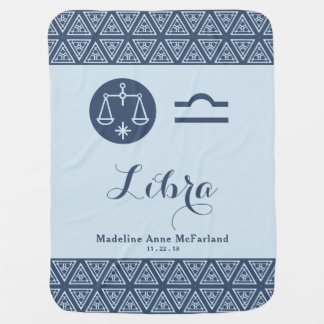 Libra Zodiac Baby Blanket