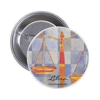 Libra Zodiac Button