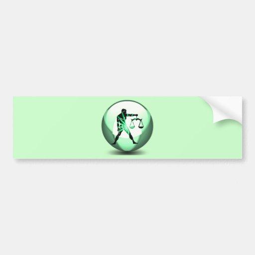 Libra Zodiac Bumper Sticker