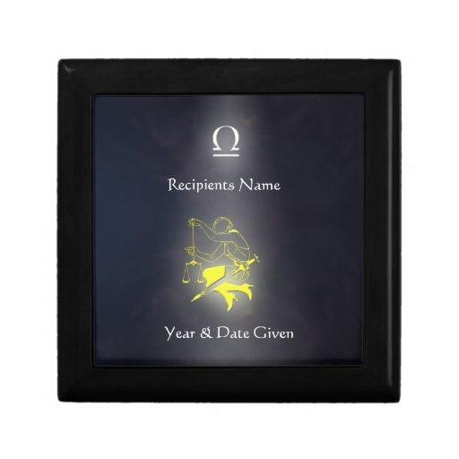 Libra Zodiac Collection Jewellery Box Gift Box